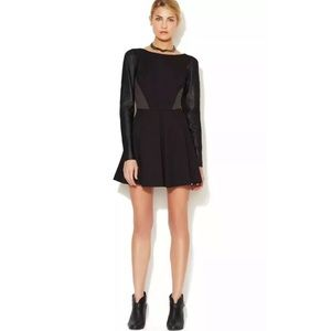 Stella & Jamie Rio Leather Sleeve Dress